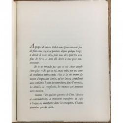 """Un texte de Francis Ponge, pour l'exposition """"OLIVIER DEBRÉ"""", galerie Knoedler en 1963"""