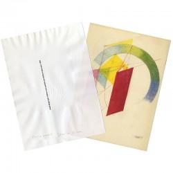 L'estampe de Jean Widmer et sa chemise en papier, 1994
