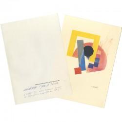 L'estampe de Jean Widmer et sa chemise en papier, 1995