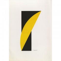 Estampe en deux couleurs signée au crayon par Jean Widmer