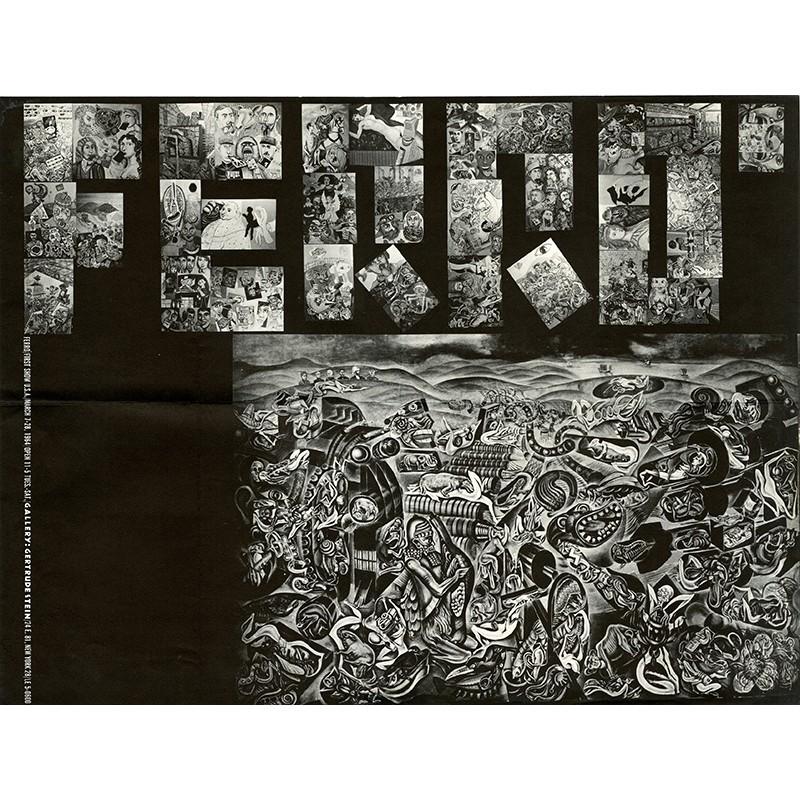 Affiche pour la première exposition de de Ferró aux USA, organisée à la Gertrude Stein Gallery à New York en 1964