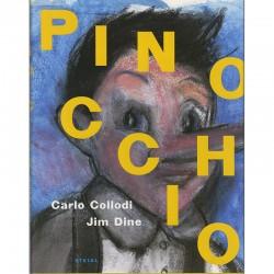 """Couverture de l'histoire de """"Pinocchio"""" de Carlo Collodi, illustrée par Jim Dine"""