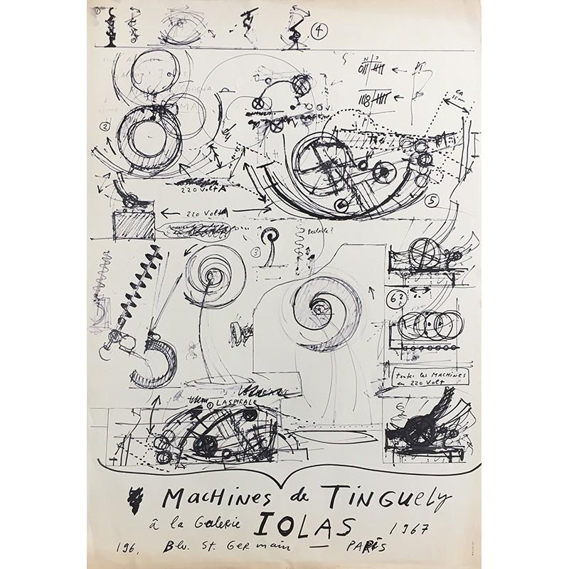 """Affiche """"Machines"""" de Jean Tinguely, Galerie Iolas, 1967"""