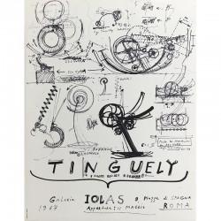 Affiche de Jean Tinguely, Galerie Iolas, Rome, 1967