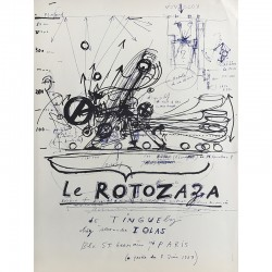 "Affiche ""Rotozaza"" de Jean Tinguely, Galerie Iolas, 1967"