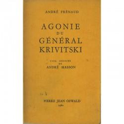 """Couverture du livre d'André Frénaud """"Agonie du Général Krivitski"""", illustré par André Masson"""