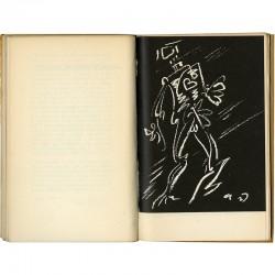 """Une des 5 illustrations d'André Masson pour le livre d'André Frénaud """"Agonie du Général Krivitski"""", Pierre Jean Oswald éditeur"""