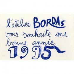 Lithographie Hervé Di Rosa voeux atelier Bordas