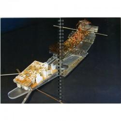 maquette de Rem Koolhaas pour le projet de François Pinault d'Institut d'art contemporain, 'île Seguin