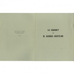 exemplaire numéroté du catalogue de l'exposition du Cabinet de Georges Courteline
