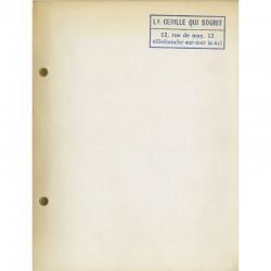 """Catalogue Ben, à la galerie """"La cédille qui sourit"""" 1966"""