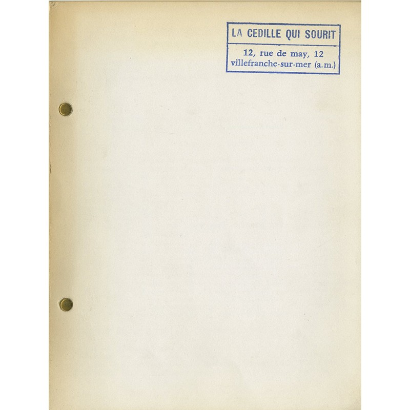 "Catalogue Ben, à la galerie ""La cédille qui sourit"" 1966"