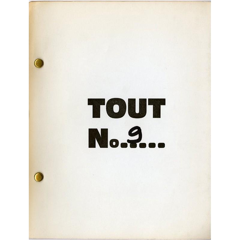 """N°9 de la revue """"TOUT"""" auto-éditée par Ben à Nice en 1965"""