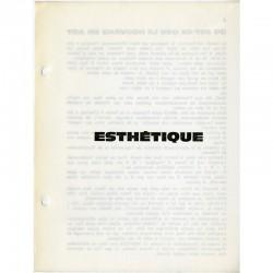 """TOUT N° 9. """"ESTHÉTIQUE"""" revue de Ben Vautier"""