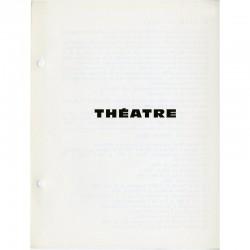 """TOUT N° 10. """"THÉATRE"""", Ben Vautier, 1967"""