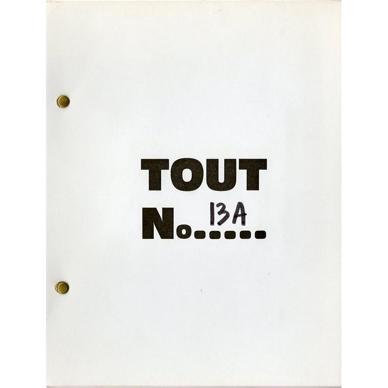 N°13A de la revue auto-éditée par Ben à Nice, ca. 1968