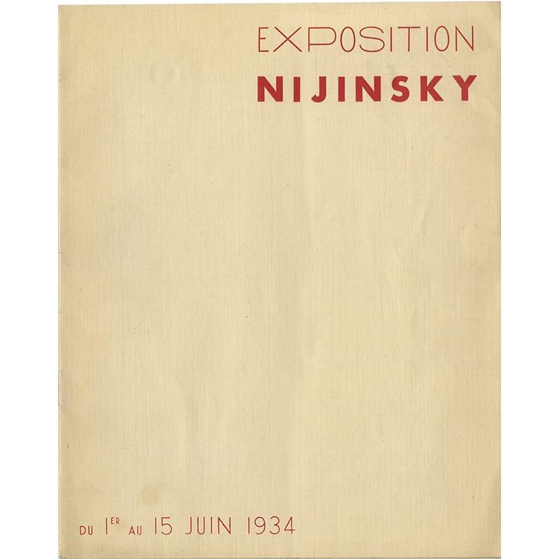 """catalogue de l'exposition """"Nijinsky"""" à la Galerie Georges Petit, 1934"""