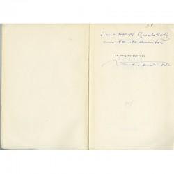 """Exemplaire dédicacé par Michel Tournier à Horst Buchholz du livre """"Le coq de bruyère"""""""