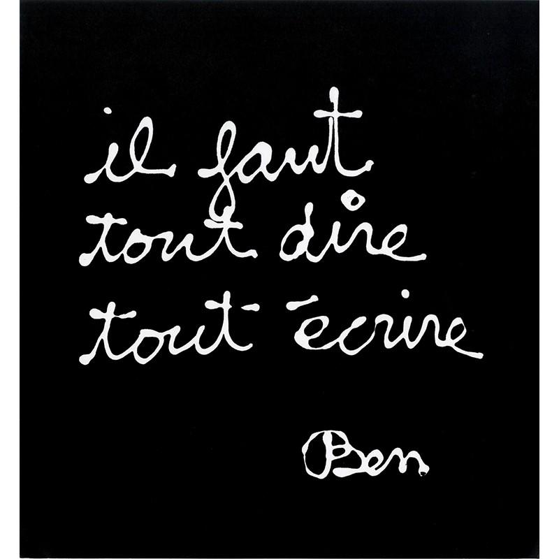 estampe de Ben créée pour les abonnés de la revue Canal, 1983