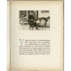 "gravure à l'eau forte d'Edouard Vuillard en bandeau dans le livre ""Tombeau de Edouard Vuillard"" 1944"