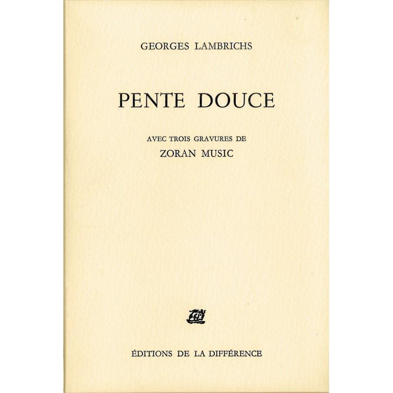 Zoran Music, Georges Lambrichs, Pente douce, 1983