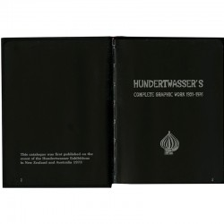 page de titre de Hundertwasser's complete graphic work, Prestel