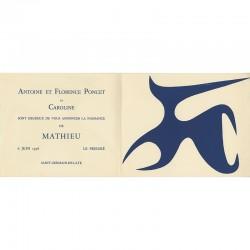 Faire-part de naissance de la famille d'Antoine  Poncet