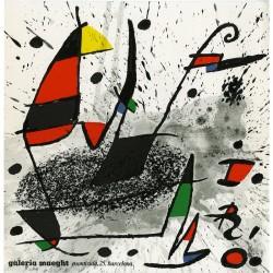 Carton d'invitation de l'exposition de Joan Miró à la galerie Maeght de Barcelone en décembre 1975