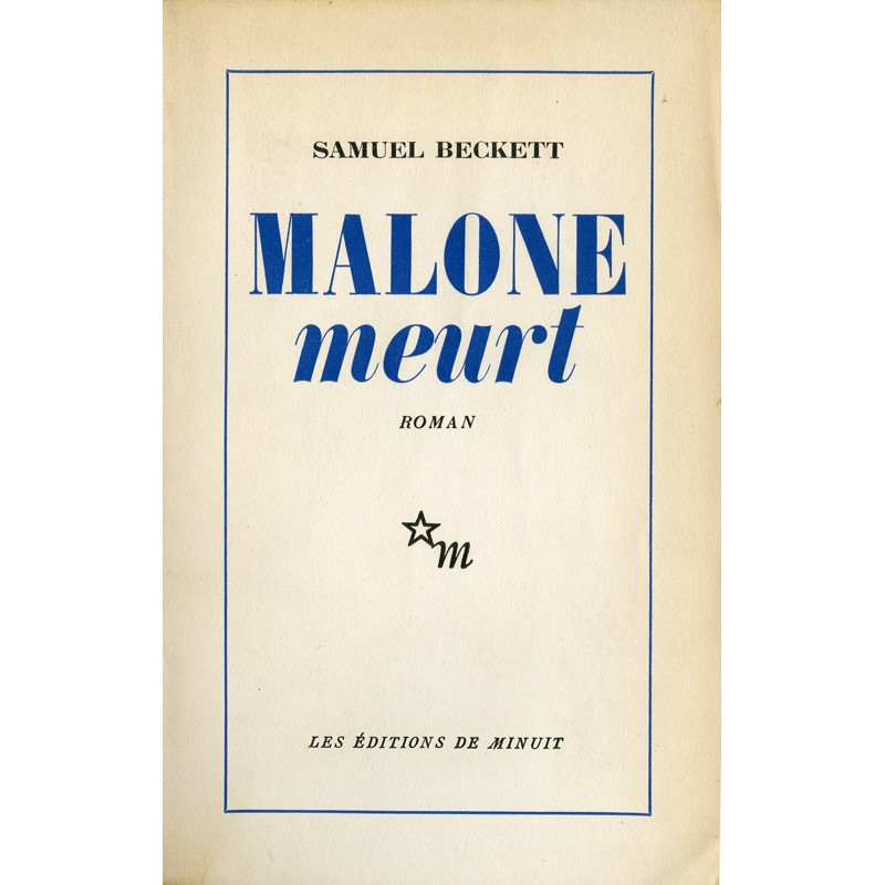 couverture de Samuel Beckett, Malone meurt