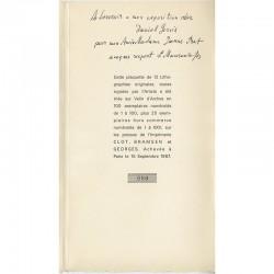 colophon et envoi de Mansouroff à Madame Jeanne Prat