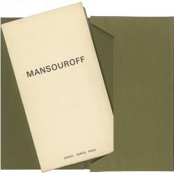 12 lithographies originales de Mansouroff, Galerie Daniel Gervis, 1967