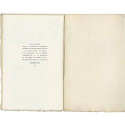 colophon du catalogue de l'exposition de Roger Vieillard, Galerie Coard