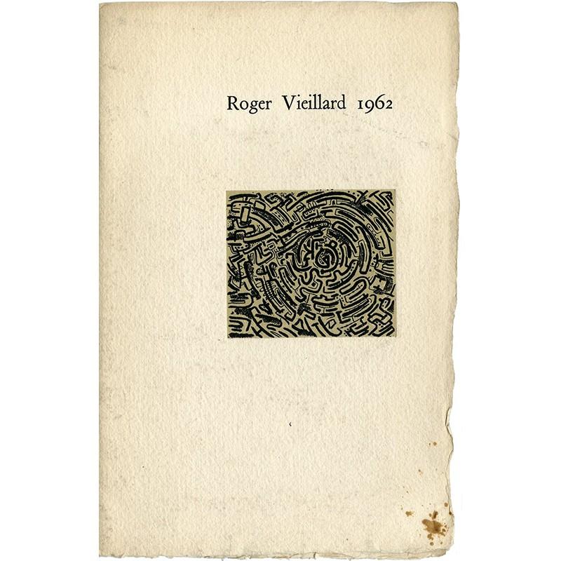 Plaquette de l'exposition de Roger Vieillard à la Galerie Coard
