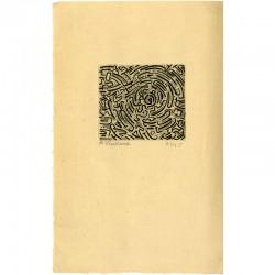 gravure originale de la couverture signée et numérotée de Roger Vieillard, n° 21