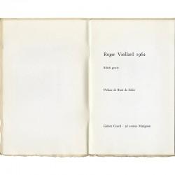 Roger Vieillard, Reliefs gravés, exposition à la Galerie Coard en 1962
