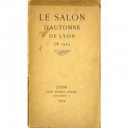 plaquette du  Salon d'Automne de Lyon, éditée « chez Marius Audin »