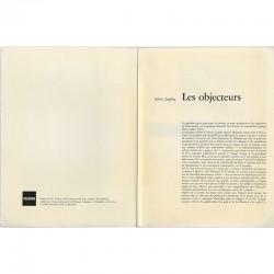 texte d'Alain Joufroy « Les objecteurs »