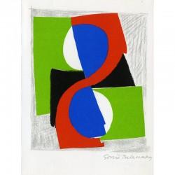 """lithographie signée et numérotée de Sonia Delaunay pour le livre de Jan Brzekowski """"Lettres en souffrance"""""""