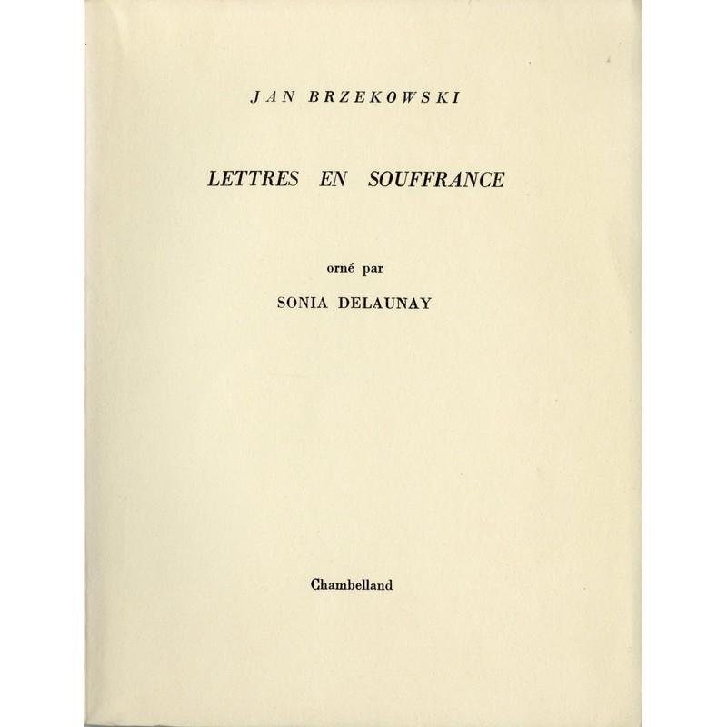 """Jan Brzekowski """"Lettres en souffrance"""" orné par Sonia Delaunay"""