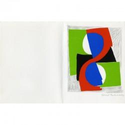 """La lithographie de Sonia Delaunay ornant le livre de Jan Brzekowski """"Lettres en souffrance"""""""