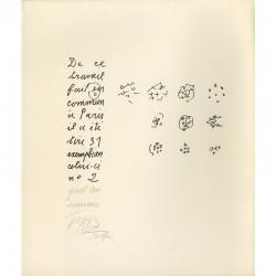 envoi de Pierre-André Benoît et Camille Bryen, Face à la porte, 1973