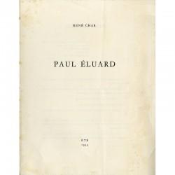René Char, Paul Éluard, été 1933