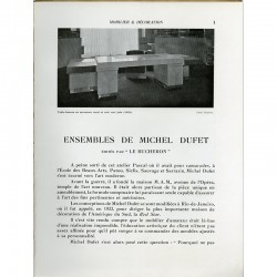"""« Ensembles de Michel Dufet » édités par """"Le Bûcheron"""", par Gaston Derys"""