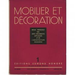 couverture de Mobilier et Décoration - n°1 - 1935