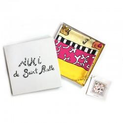 """Foulard en soie """"Chiens"""" de Niki de Saint Phalle, 2000"""