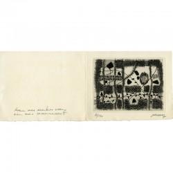 gravure originale n° 86/150 pour une gravure de Jean Couy