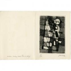 gravure originale n° 75/150 pour une gravure de Jean Couy