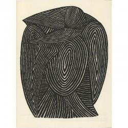 sérigraphie d'après une gravure sur bois de Mario Prassinos