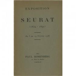 Catalogue pour l'exposition de Seurat, galerie Paul Rosenberg, 1936