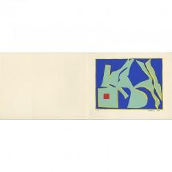 d'après une gouache de Richard Mortensen pour la carte de vœux de la galerie Denise René